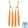 Strandslippers straps op maat 42-44 oranje bedrukken