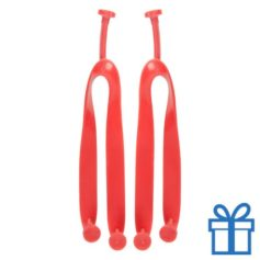 Strandslippers straps op maat 42-44 rood bedrukken