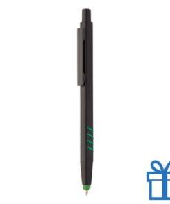 Stylus balpen zwart groen