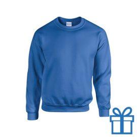 Sweater poly katoen L blauw bedrukken