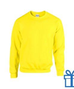 Sweater poly katoen L geel bedrukken