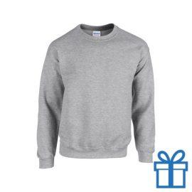 Sweater poly katoen L grijs bedrukken