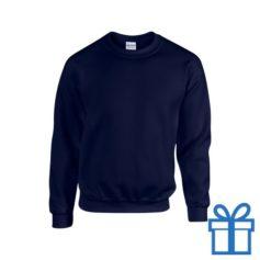 Sweater poly katoen L navy bedrukken