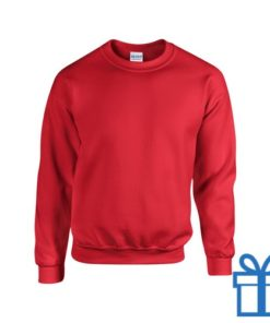 Sweater poly katoen L rood bedrukken