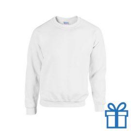 Sweater poly katoen L wit bedrukken