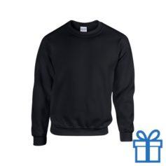 Sweater poly katoen L zwart bedrukken