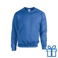 Sweater poly katoen M blauw bedrukken