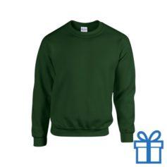 Sweater poly katoen M groen bedrukken