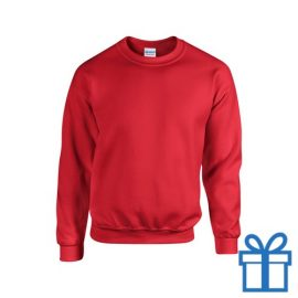 Sweater poly katoen M rood bedrukken