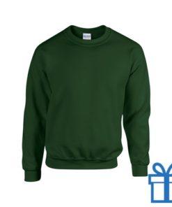 Sweater poly katoen S groen bedrukken