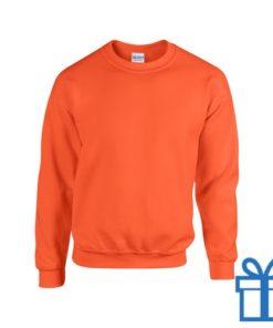 Sweater poly katoen S oranje bedrukken