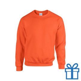 Sweater poly katoen XL oranje bedrukken