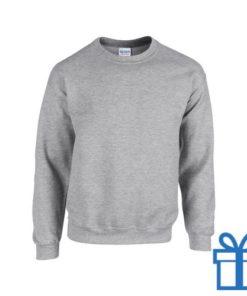Sweater poly katoen XXL grijs bedrukken
