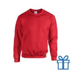 Sweater poly katoen XXL rood bedrukken