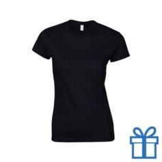 T-shirt dames rond katoen XL zwart bedrukken