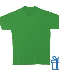 T-shirt kinderen rond zware kwaliteit L donkergroen bedrukken