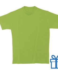 T-shirt kinderen rond zware kwaliteit L lichtgroen bedrukken