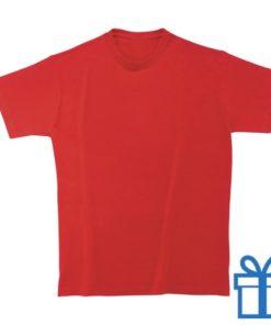 T-shirt kinderen rond zware kwaliteit L rood bedrukken