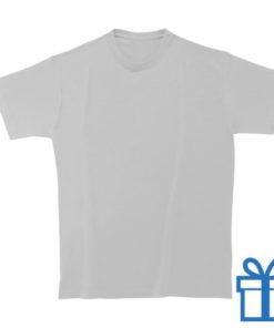 T-shirt kinderen rond zware kwaliteit L wit bedrukken