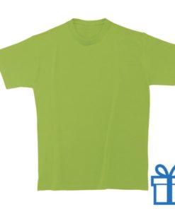 T-shirt kinderen rond zware kwaliteit M lichtgroen bedrukken