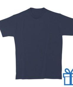 T-shirt kinderen rond zware kwaliteit M navy bedrukken