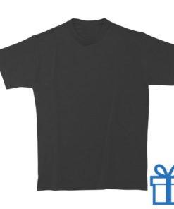 T-shirt kinderen rond zware kwaliteit M zwart bedrukken