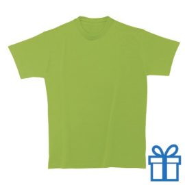 T-shirt kinderen rond zware kwaliteit S lichtgroen bedrukken
