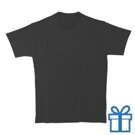 T-shirt kinderen rond zware kwaliteit XL zwart bedrukken