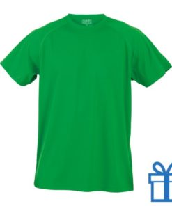 T-shirt sport ademend poly XXL groen bedrukken