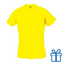 T-shirt sport ademend poly XXL lichtgeel bedrukken