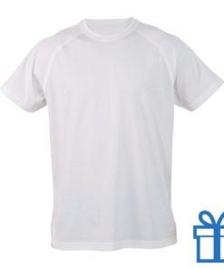 T-shirt sport ademend poly XXL wit bedrukken