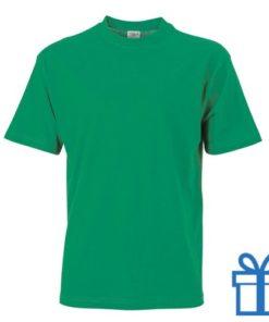 T-shirt unisex katoen ronde hals L lichtgroen bedrukken