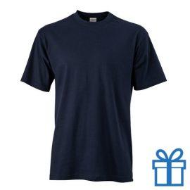 T-shirt unisex katoen ronde hals L navy bedrukken