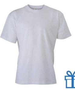 T-shirt unisex katoen ronde hals M wit bedrukken