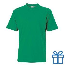 T-shirt unisex katoen ronde hals S lichtgroen bedrukken