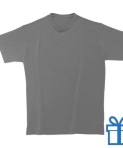 T-shirt unisex rond katoen L donkergrijs bedrukken