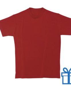 T-shirt unisex rond katoen L rood bedrukken
