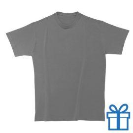 T-shirt unisex rond katoen S donkergrijs bedrukken