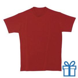 T-shirt unisex rond katoen S rood bedrukken