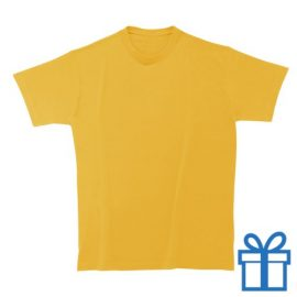 T-shirt unisex rond zware kwaliteit L donkergeel bedrukken