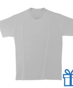 T-shirt unisex rond zware kwaliteit L lichtgrijs bedrukken