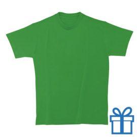 T-shirt unisex rond zware kwaliteit L middengroen bedrukken