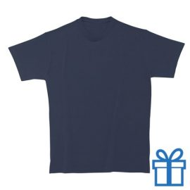 T-shirt unisex rond zware kwaliteit L navy bedrukken