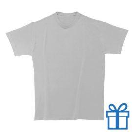 T-shirt unisex rond zware kwaliteit M lichtgrijs bedrukken