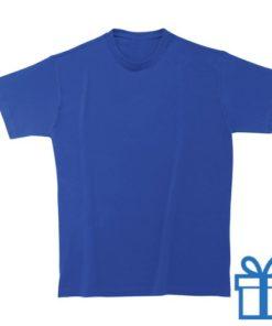 T-shirt unisex rond zware kwaliteit S blauw bedrukken