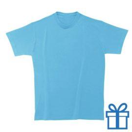 T-shirt unisex rond zware kwaliteit S lichtblauw bedrukken