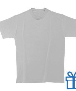 T-shirt unisex rond zware kwaliteit S lichtgrijs bedrukken
