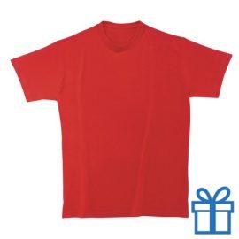 T-shirt unisex rond zware kwaliteit S rood bedrukken
