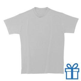 T-shirt unisex rond zware kwaliteit S wit bedrukken