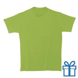 T-shirt unisex rond zware kwaliteit XL lime bedrukken